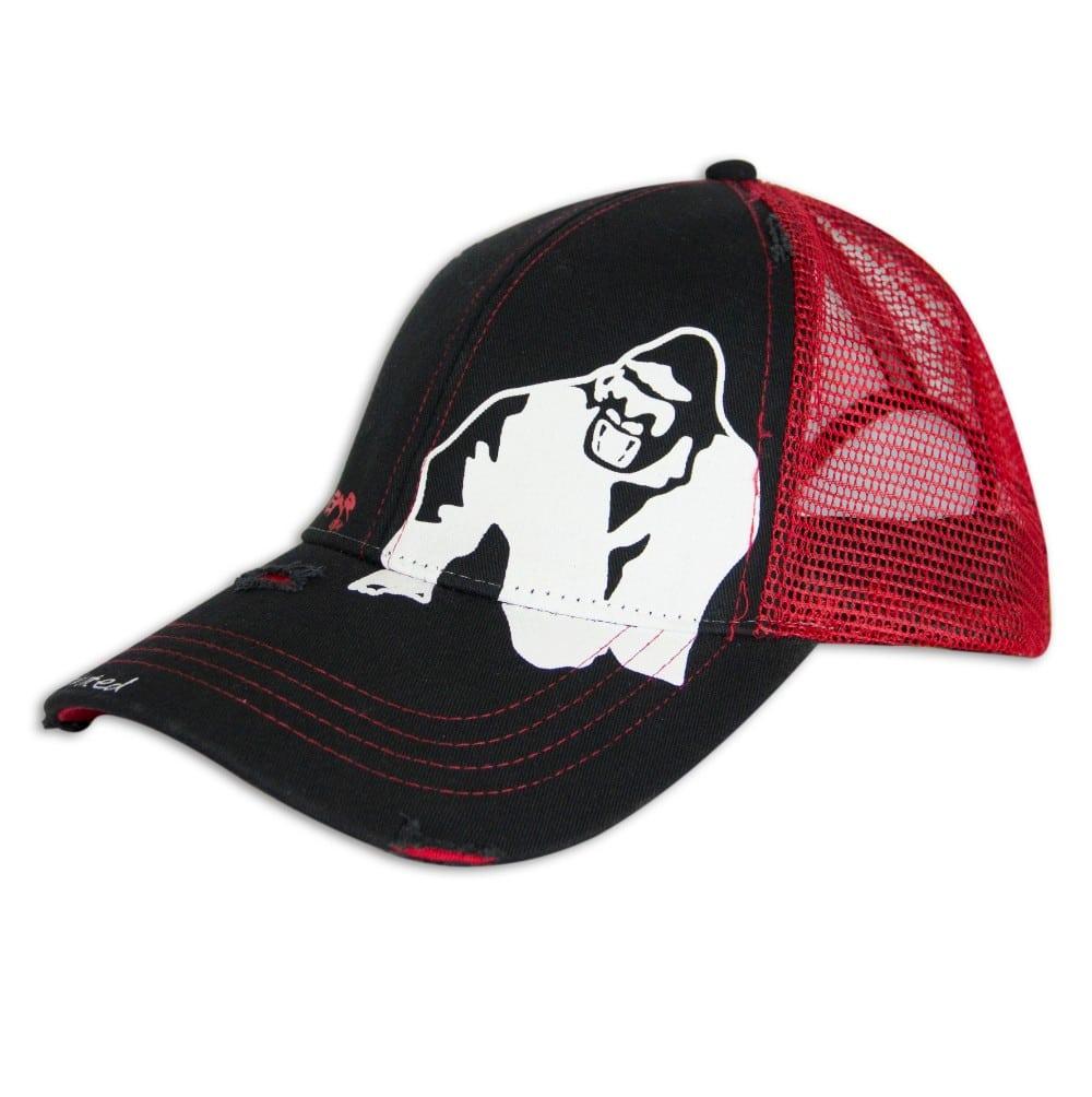 84ab2373118734 Gorilla Wear Trucker Cap - schwarz / rot bei Gorilla Wear ...