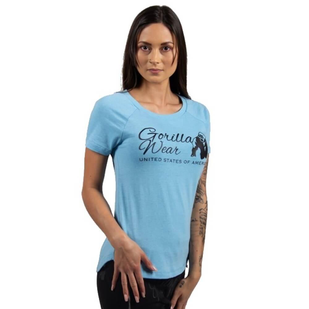 GORILLA WEAR Lodi T-Shirt Light hellgelb Bodybuilding und Fitness T-Shirt f/ür Damen